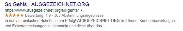 ausgezeichnet.org siegel rechtssicher