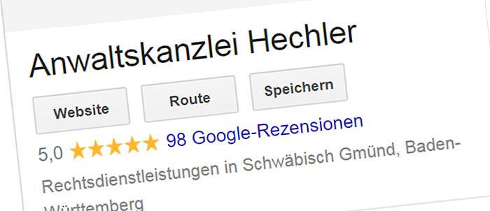 Google Bewertung löschen
